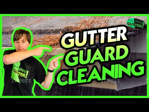 How to Clean the gutters with a gutter guard