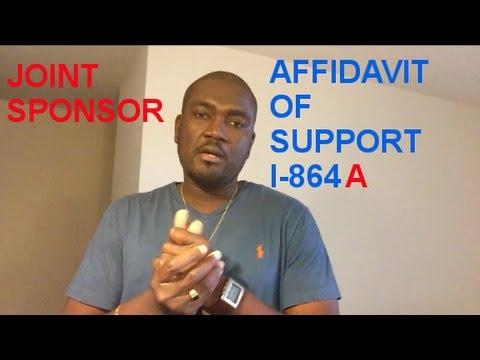 JOINT SPONSOR (AFFIDAVIT OF SUPPORT)