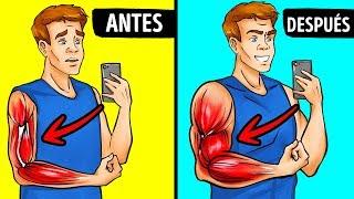 Trucos y ejercicios para ayudar a tus BRAZOS a CRECER