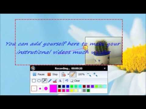 How to Make an Instructional Video with Webcam