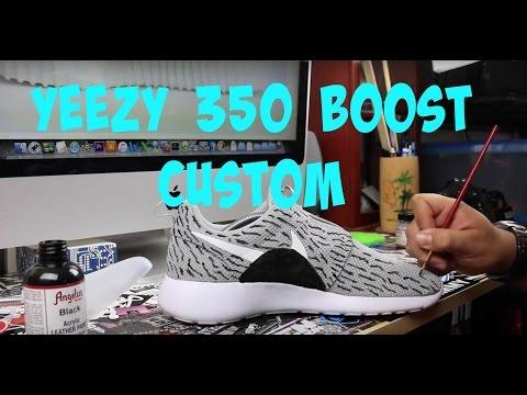 cc6abeb7f1433 How To Make Roshe Yeezy 350 Boost Customs Tutorial