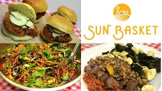 SUN BASKET MEAL DELIVERY BOX!!  PREP AND REVIEW!  GREAT FOR BUSY WEEKS!