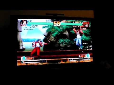 PSP GO with PS3 controller FULL SCREEN PS1 KOF98 LCD