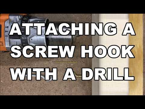 Attaching a Screw Hook with a Drill