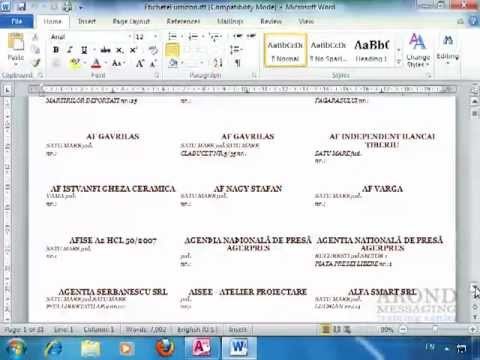 Using Access 2010 - Export Labels to Word