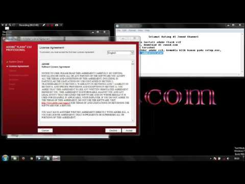 Cara Install Adobe Flash CS3