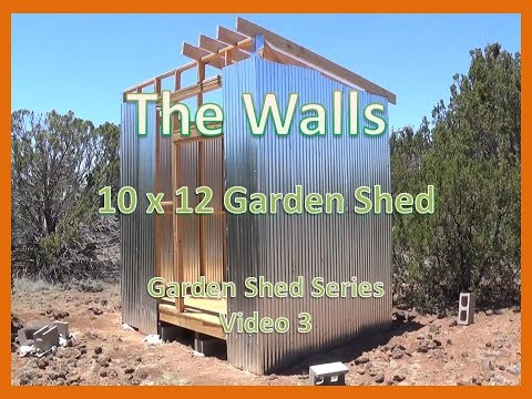 The Walls - 10x12 Garden Shed Video 3 in a series