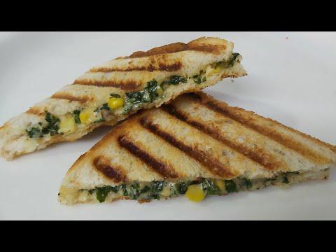 CHEESE CORN SPINACH SANDWICH TOAST RECIPE