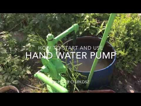 How to run and use old hand water pump