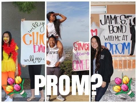 3 GIRLS ASK 3 GUYS TO PROM
