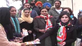 Grand Daughter of Amarinder Singh Doing Election Campaign For Him at Patiala