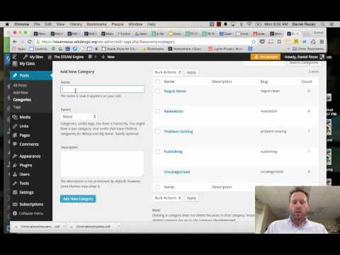Creating Your Categories on Wordpress