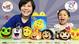 8 Emoji Movie Happy Meal Toys Review | Lucas World 😊
