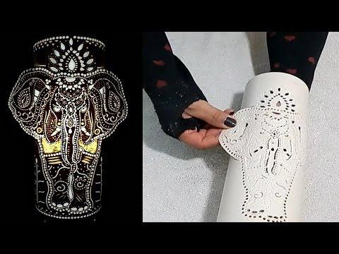 DIY Aprenda fazer uma luminária de PVC formato elefante indiano