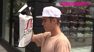 Justin Bieber Shops At Shoe Palace On Melrose Ave. 7.19.15 - TheHollywoodFix.com