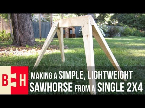 Making a Simple, Lightweight Sawhorse from a Single 2x4