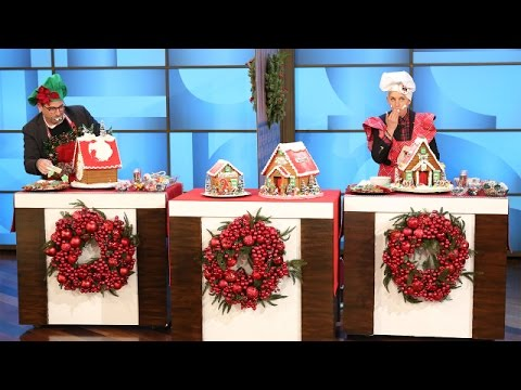 Steve Carell and Ellen's Gingerbread House Challenge