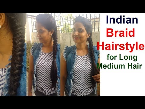How to do INDIAN BRAID HAIRSTYLES for Long Hair | Most Easy Hairstyle Step by Step Tutorial 2018
