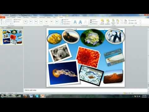 How to create a collage using powerpoint