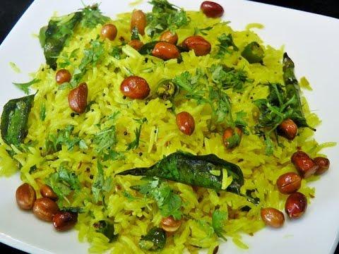 फोडणीचा भात   Phodnicha Bhat   Fried Rice by madhurasRecipe