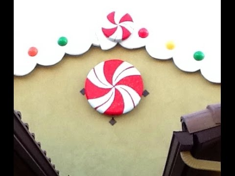 DIY Giant Peppermint Candy decoration - Gingerbread / Candyland party theme christmas decoration