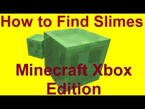 How to Find Slimes in Minecraft Xbox Edition Tutorial!