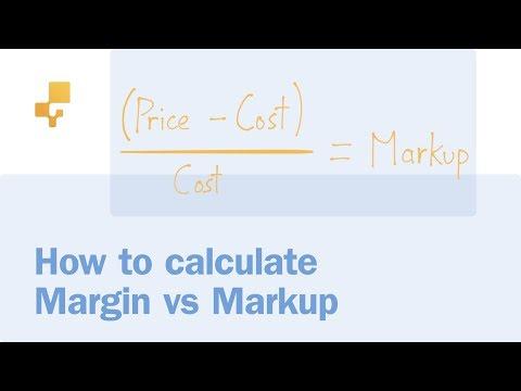 How to calculate Markup vs. Margin