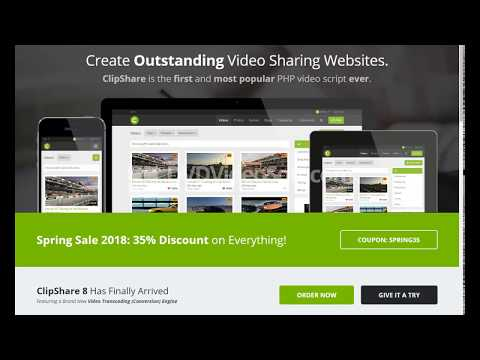 make your own video sharing website