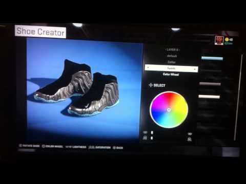 NBA 2k15 shoe creation chrome Foamposite one