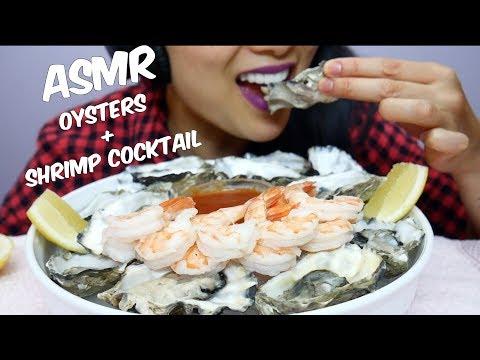ASMR Shrimp COCKTAIL + FRESH Oysters (EATING SOUNDS) No Talking | SAS-ASMR