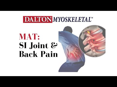 Deep tissue massage & stretch for SI joint and back pain