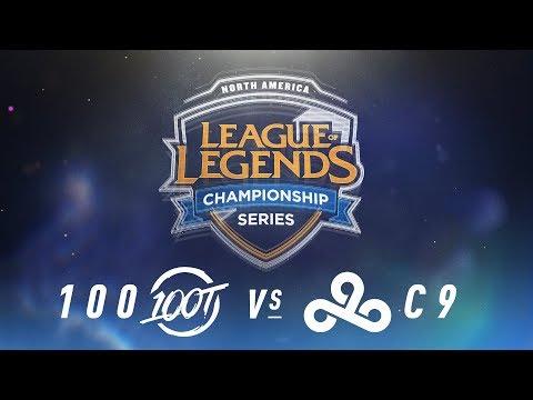 100 vs. C9 - Week 6 Day 1 | NA LCS Spring Split | 100 Thieves vs. Cloud9 (2018)