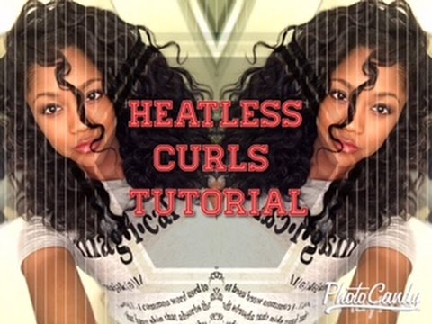 Heatless Curls on Straight Natural hair | Bantu Knot Out
