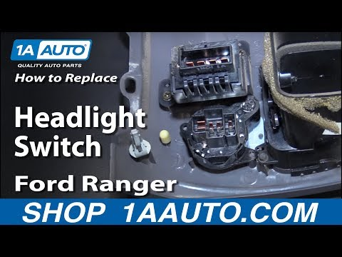 How to Install Replace Headlight Switch 1995-06 Ford Ranger BUY QUALITY AUTO PARTS AT 1AAUTO.COM