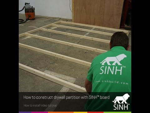 How to construct drywall partition with MagOXX board