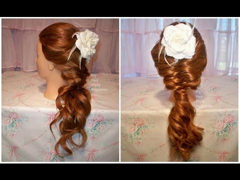 Hair Tutorial: Soft Loose Romantic Fishtail Braid Hairstyle for Bridal Wedding