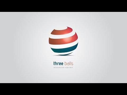 Professional Logo Design | Adobe Illustrator CC | Tutorial (3d Ball)