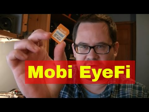 Eye-fi Mobi wi-fi SD card review and demo w/ Canon T3i and MacBook Air
