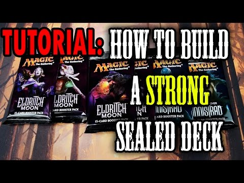 MTG -  Guide to build a STRONG sealed Deck! **TUTORIAL** Part 1