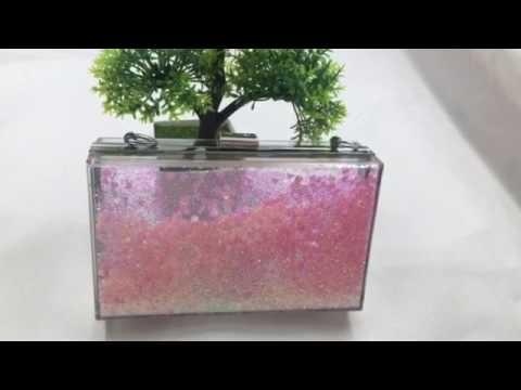 acrylic liquid clutch bag