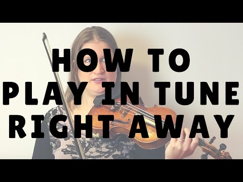 How to Play in Tune Right from the Start   Violin Lounge TV #232