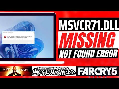 How To Fix msvcr71.dll Missing Error Windows 10/8.1/7
