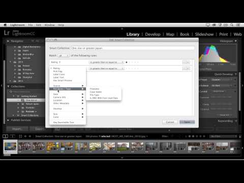 Working with Smart Collections in Lightroom
