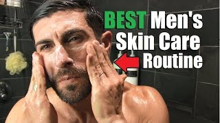 Download The BEST Men's Skin Care Routine For Clear Skin (Morning & Night Routine) | How To Have GREAT Skin! Video