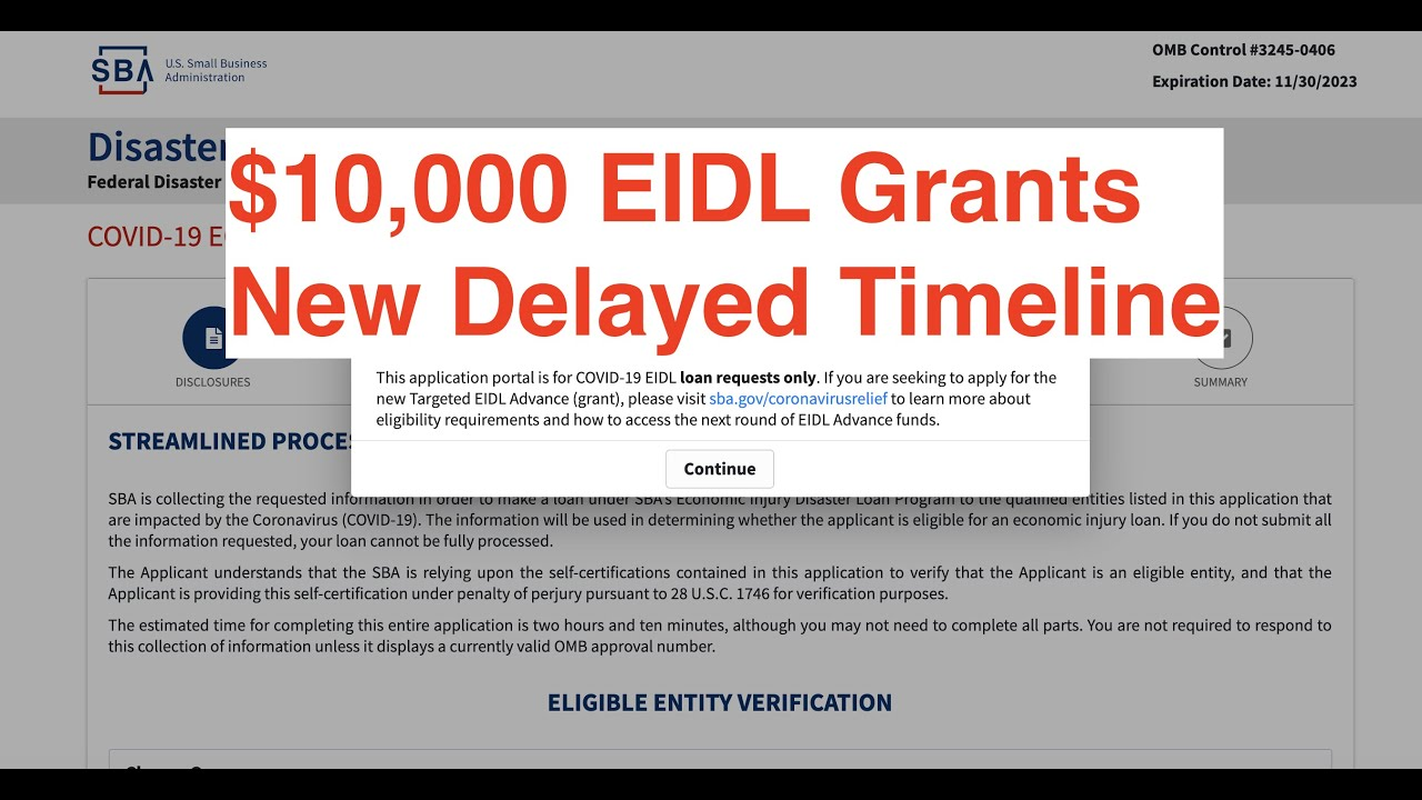 EIDL Grants Are Delayed   EIDL Grant and PPP Loan Update