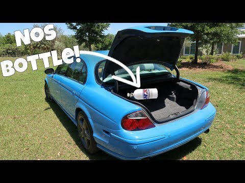 Cheap Old V8 Jaguar Is Supercharged and Gets NITROUS! *It's FAST*