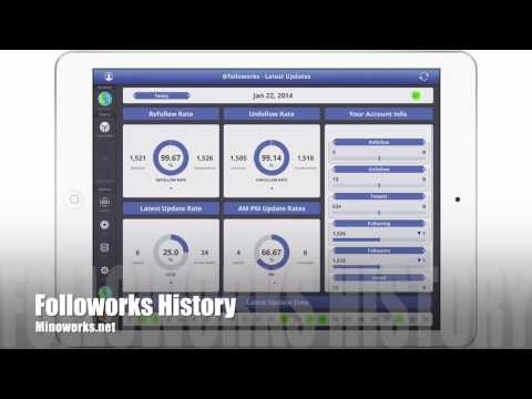 Followorks History for iPad - Record your twitter history