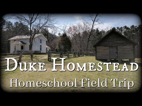 Large Family Travel: Duke Homestead || American History Field Trip