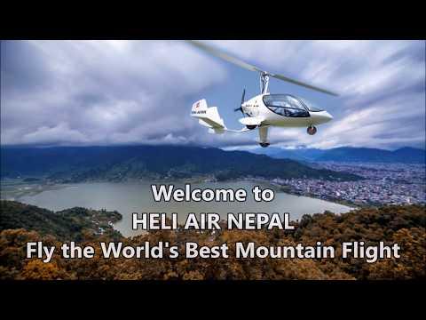 Gyrocopter Flight at Himalaya Mountain Range, Nepal