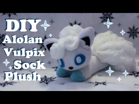 ❤  DIY Alolan Vulpix Sock Plush! How To Make A Cute Pokemon Plushie~ ❤